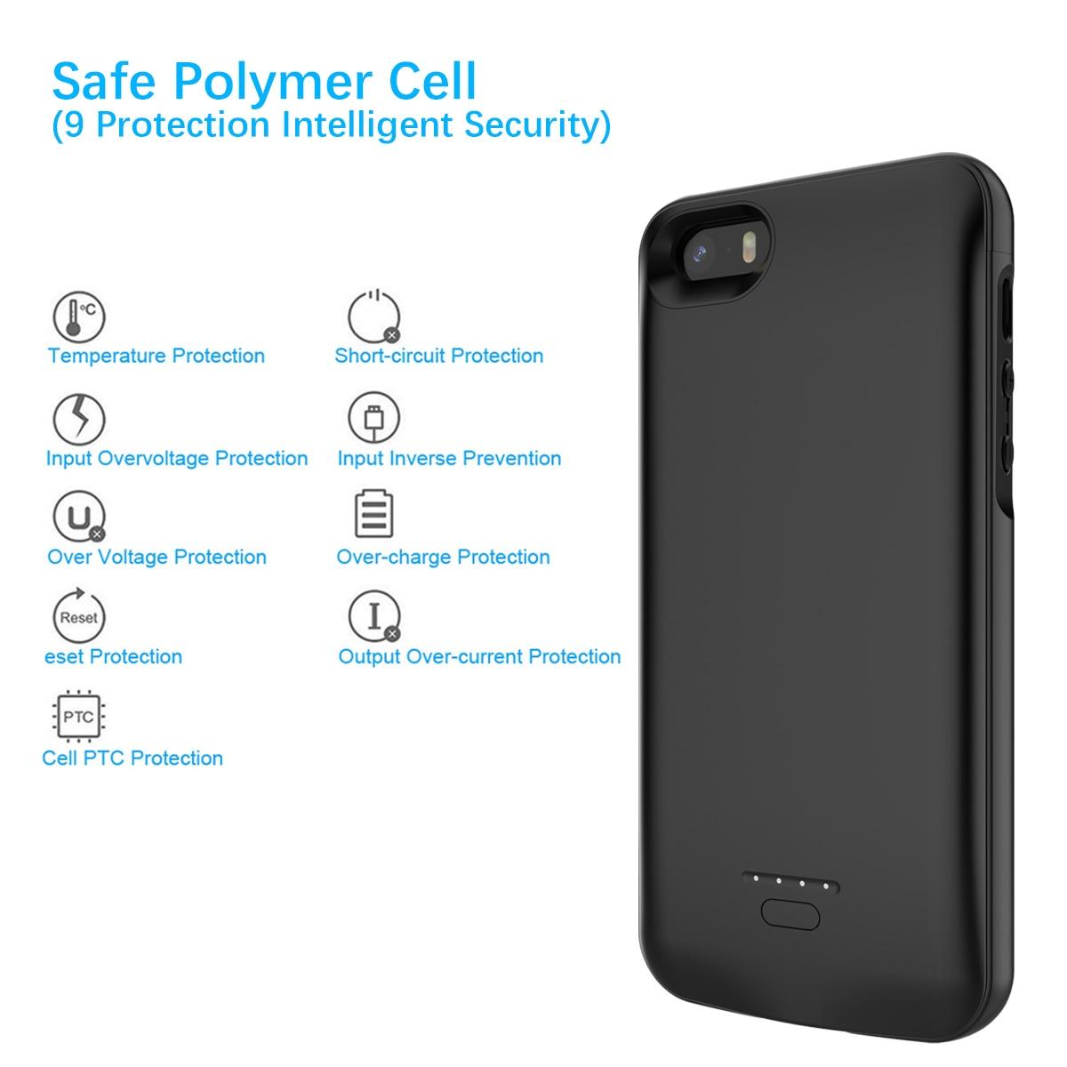 Carregador de Bateria Case Para iPhone 5 5SE SÉ CASEWIN 5S Caso Banco do Poder 4000 mAh Powerbank Carregador de Carregamento Da Bateria Caso tampa Do caso
