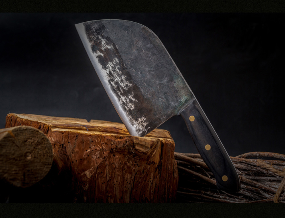 Hand Made Forged Steel Serbian Chef Type Knife