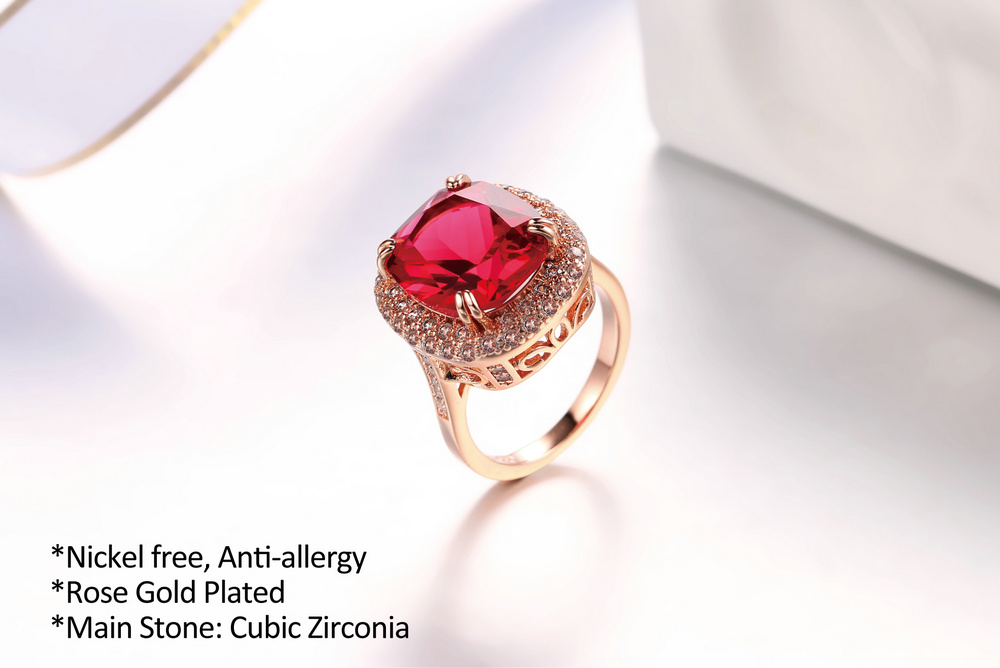 Genuine Red Austrian Crystal Ring