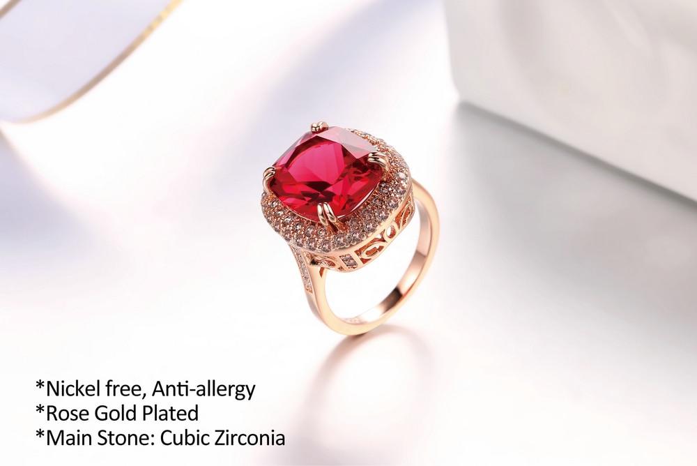 Genuine Red Austrian Crystal Ring