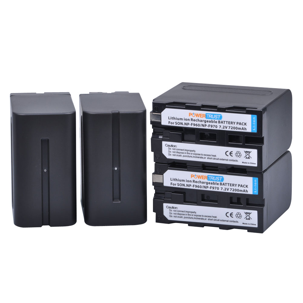 4Pcs 7200mAh NP-F960 NP-F970 Battery NP F970 NP F960 Camcorder batteries for Sony NP-F550 F770 F750 F960 F970 sony xs ledw12