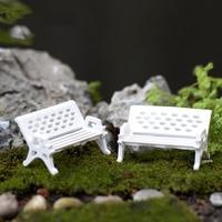10Pcs/lot Mini Garden Decoration Chairs Fairy Garden Miniatures Terrarium Figurines Chair Craft Decoration Terrarium Figurine