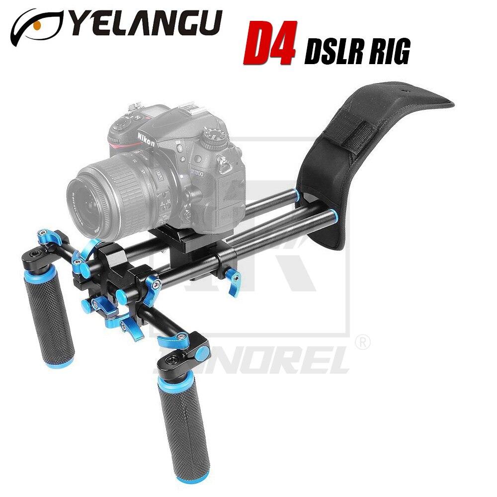 DSLR Rig Movie Kit Shoulder Mount Holder Easy For Shooting DV 5d mark ii 6d d800