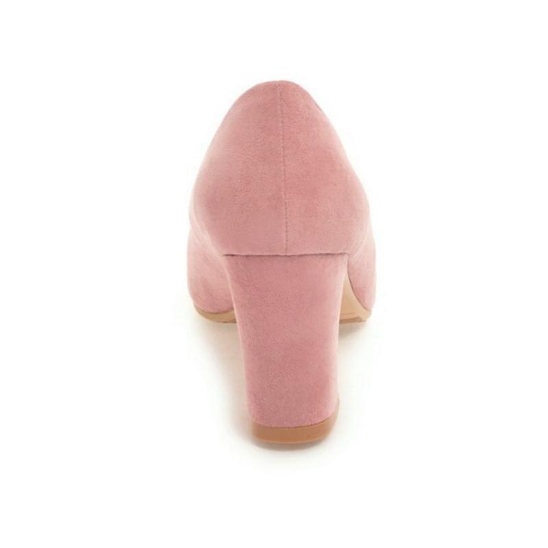 5d2add679856 rose Bowtie Taoffen Beige Hauts Pompes Carré blanc Talons Printemps De Bout  2019 33 Lady Femmes Chaussures Taille 43 Office Mode ...