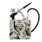 OPHIR комплект аэрографа двойного действия с воздушным компрессором и зарядным аккумулятором Аэрограф распылитель для дизайна ногтей хобби ...
