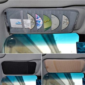 Wielofunkcyjny Auto samochód Visor CD organizator obsadka do pióra osłona przeciwsłoneczna torba typu worek na CD długopisy akcesoria samochodowe CD worek do przechowywania tanie i dobre opinie Parasolka Worek Do Przechowywania Non-woven fabric tuochvy 32*15*0 8(mm) CD Organizer pen holder Able to store 12CDs
