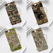 Realtree Real Tree Camo Soft TPU Art Cover Case Voor iPhone 4 4 s 5 5C SE 6 6 s 7 8 Plus X XS Max XR Galaxy A3 A5 J1 J3 J5 J7 2017(China)