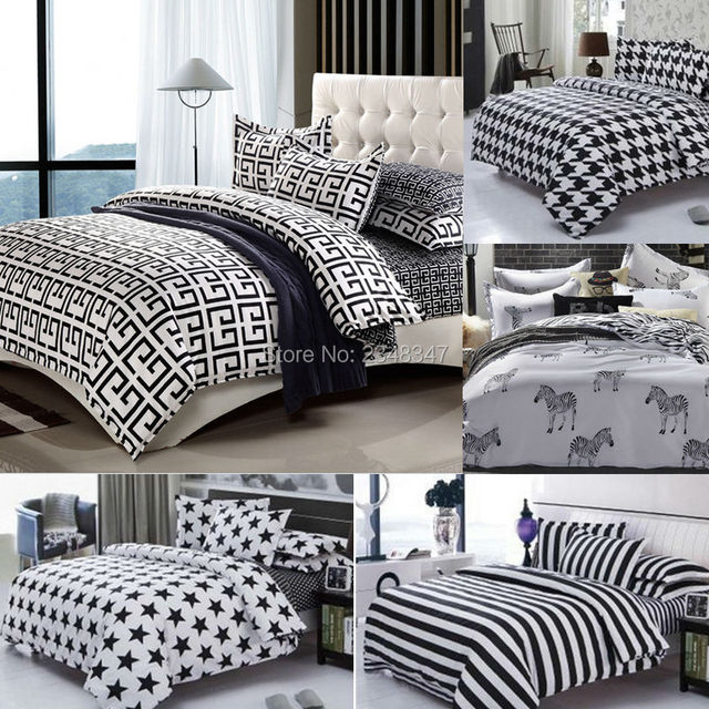 e2d48bb3bfeef Moda 4 Pcs Twin/Full/Queen Size Colcha de Cama/Edredom/Set Capa de ...
