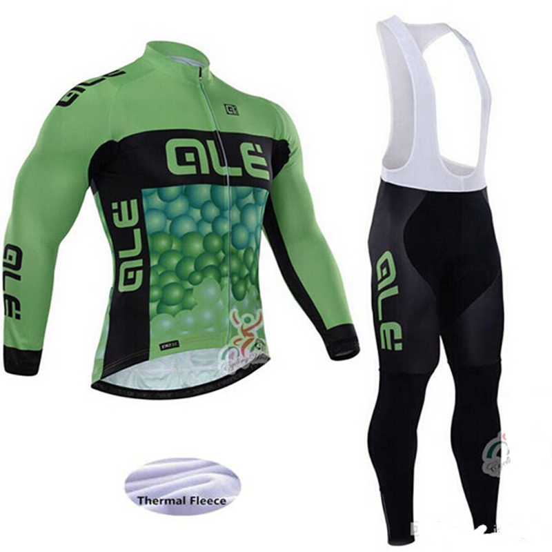 2017 Cycling Jersey Sets Mens Bike Riding MTB ALE Winter Long Sleeve Cycling Suits Breathable Cycling Clothing Jersey Sets