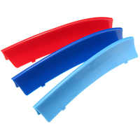 3 Pcs/Set Front Grill Grille Trim Strip Cover Decoration For BMW X1 E84 2010-2017 ABS Plastic Dark Blue/Blue/Red