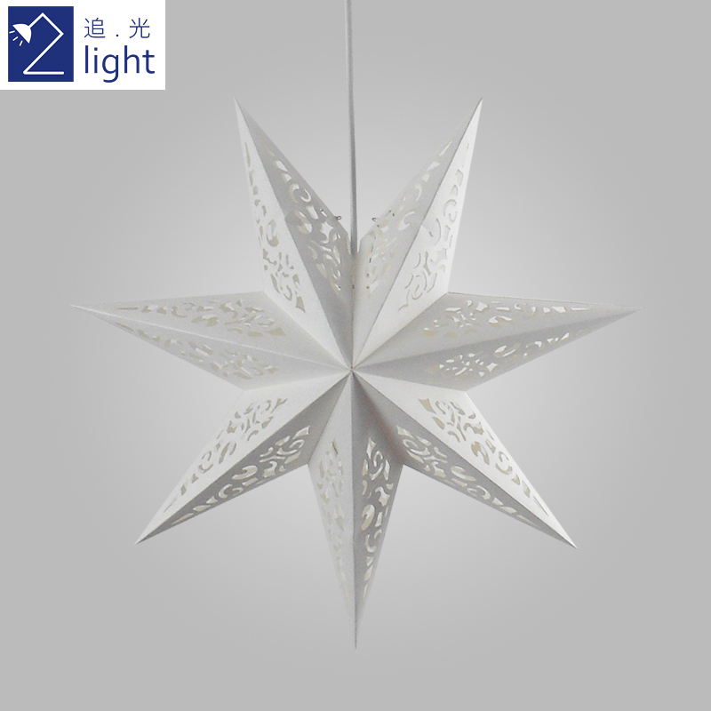 Light Paper Star Chandelier Lamp Shade Ikea Minimalist Design Modern Small Creative Golden White New In Pendant Lights From Lighting On