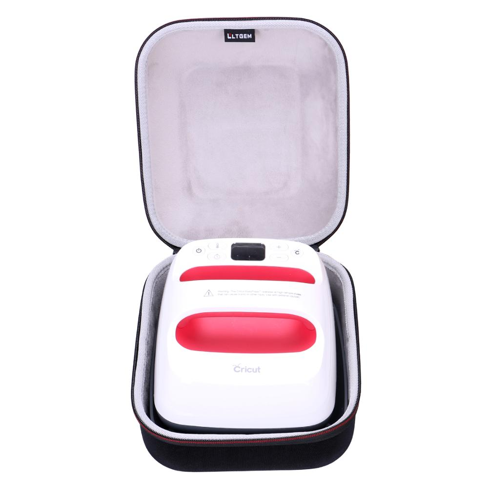 LTGEM EVA Shockproof Carrying Hard Case For Cricut EasyPress 2, 6x7 Inches
