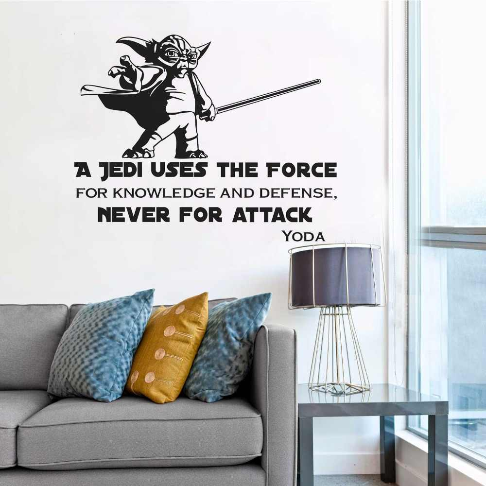 Master yoda wall decal star wars a jedi vinyl wall sticker home decoration star wars removable