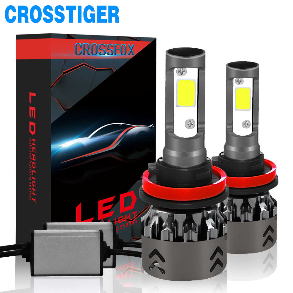 2019 New Car Headlight Led H7 H1 9006 hb4 hb3 9005 H11 H4 LED Bulb Small Size Super Bright Automobiles Light Auto Lamp 12v 6000K