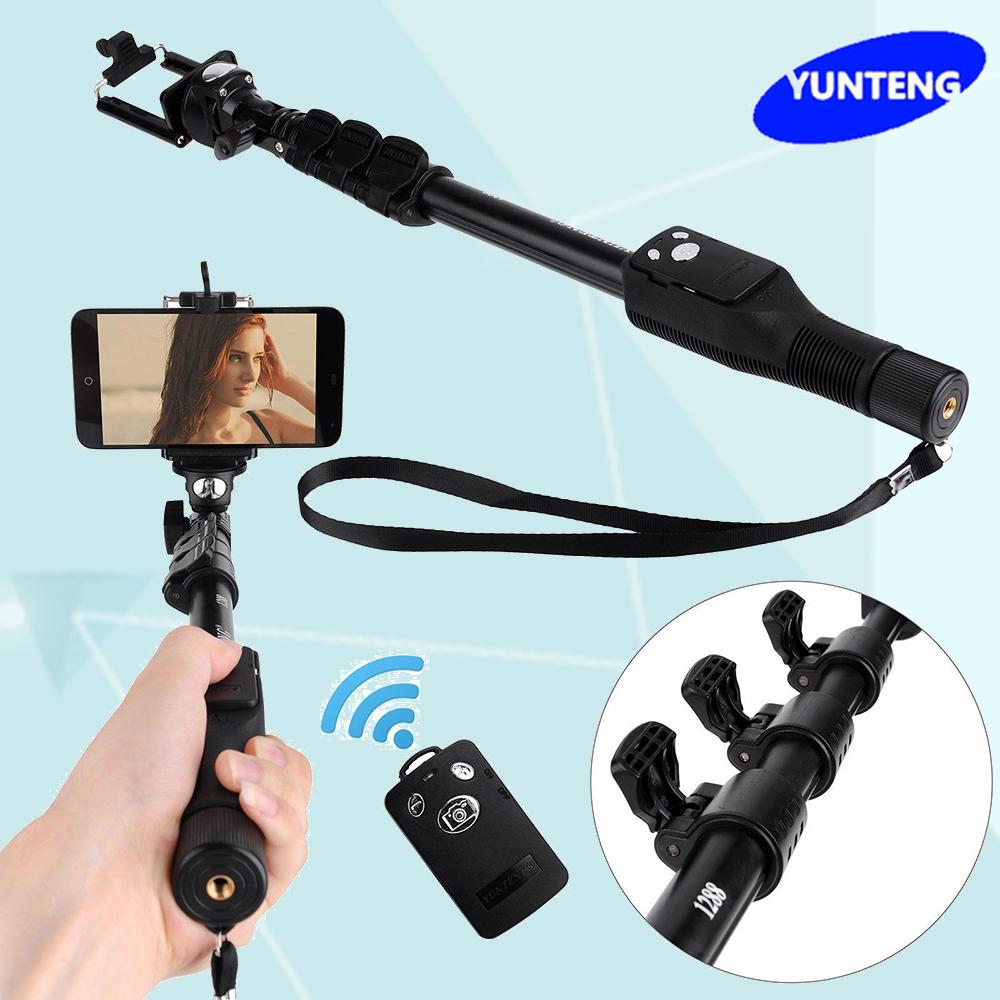 Prix pour Yunteng 1288 Bluetooth Extensible Selfie Bâton De Poche Yt-1288 Trépied Manfrotto pour Gopro Dslr Caméra Android Téléphone Vs YT-188 188