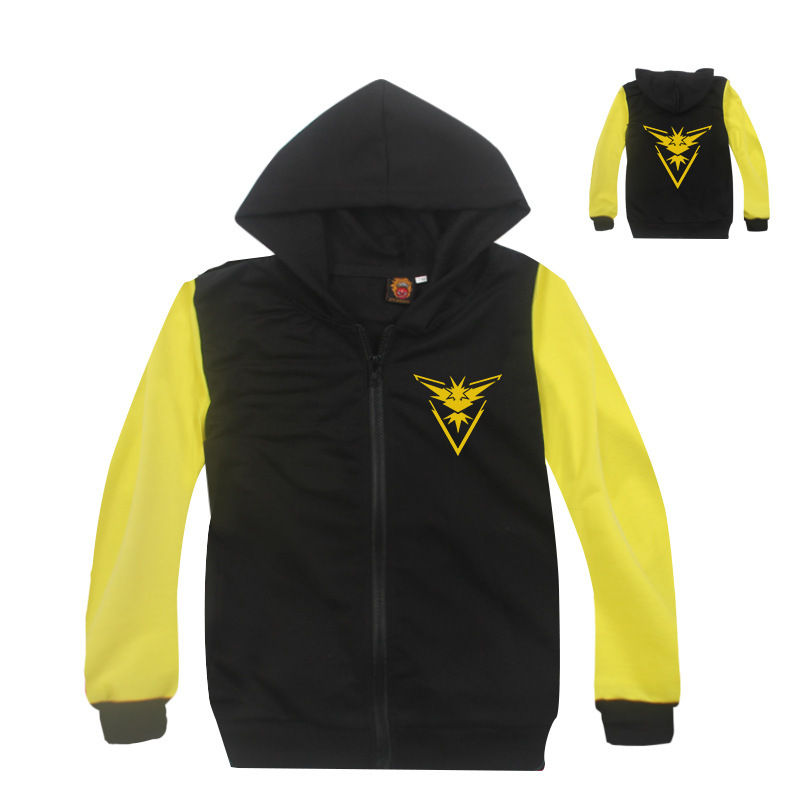 Z&Y 3-8Years Album Pokemon Collection Children Jacket for Boys Hoodies Zipper Jacket  Pikachu Baby Infant Coat Autumn Fall 7701