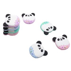 Image 2 - Chengkai 50 PCS Silicone Panda Kralen DIY Baby Schattige Dieren Tandjes Oral Care Hanger Douche Bijtring Zintuiglijke Sieraden Speelgoed Gift