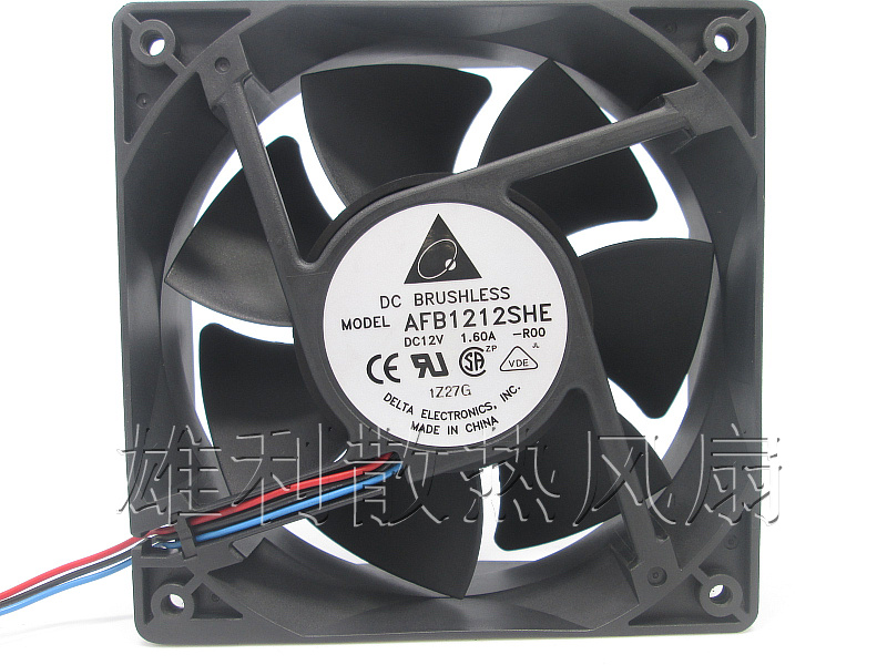 Free Delivery. Original AFB1212SHE 12V 1.60A 12CM 12038 3-wire cooling fan R00