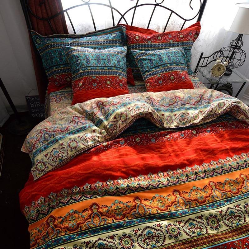 FANAIJIA 3d Bohemian Bedding Sets Boho Printed Mandala Duvet Cover Set With Pillowcase Queen Size Bedlinen Home Textile