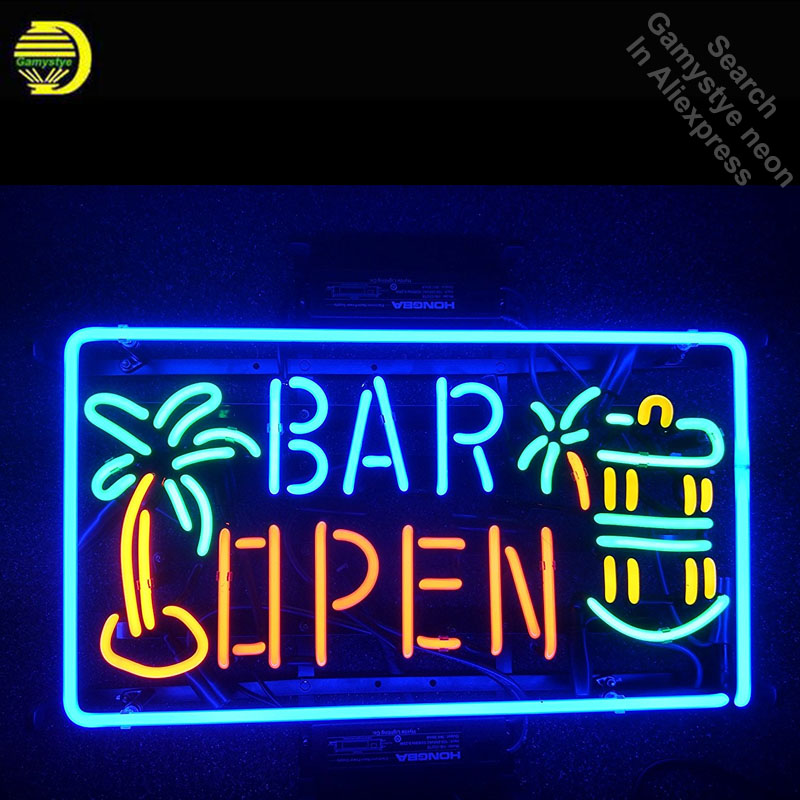 Neon Sign for Bar open Home Decor Neon Tube vintage Pup