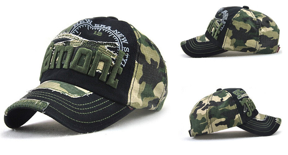 Topdudes.com - Unisex Camouflage Baseball Cap Casual Outdoor Sport Snapback Hat For Men