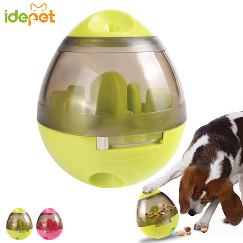 Dog Cat IQ Food Ball Pet Interactive Toy Smarter Dogs Treat Dispenser Ball for Dogs Puzzle Shaking Playing Training 3d40