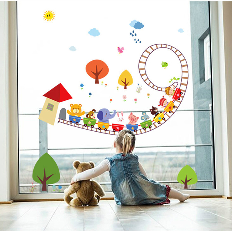 Compare prices on cartoon roller coaster online shopping for Stickers habitacion bebe