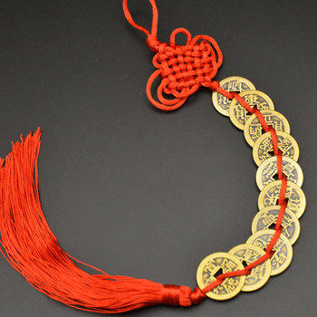 Chinese manual Knot Fengshui Lucky Charms Ancient I CHING Copper Coins Mascot Prosperity Protection Good Fortune Home Car Decor 26
