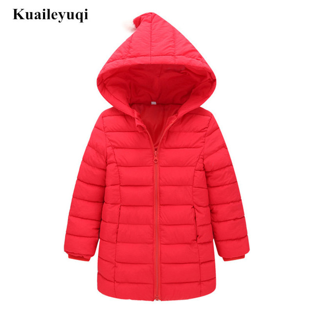 1-8 Yrs 2018 New spring autumn Children light thin Coat Garment Down cotton girls Jackets hooded padded baby girl winter Clothes