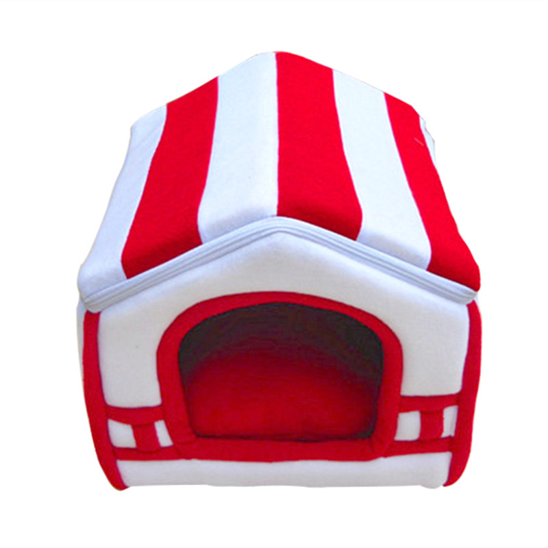 2019 Dog Bed Para Soft Dog House Blanket Option Pet Cat Dog Home Shape 2 Colors Red Orange Puppy Kennel Soft ATB 158 in Houses Kennels Pens from Home Garden