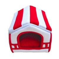 2019 Dog Bed Para Soft Dog House Blanket Option Pet Cat Dog Home Shape 2 Colors Red/Orange Puppy Kennel Soft ATB 158