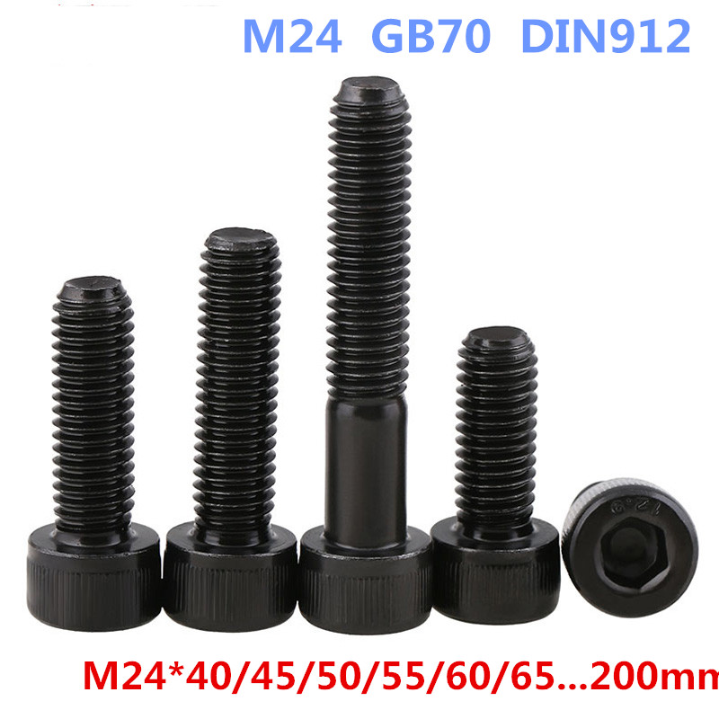 AXK M24-1PCS 12.9 Hexagon Socket Head Cap Screws / Bolts DIN912 M24*40/45/50/55/60/65...200mmAXK M24-1PCS 12.9 Hexagon Socket Head Cap Screws / Bolts DIN912 M24*40/45/50/55/60/65...200mm