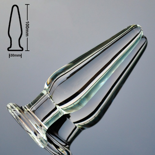 Anal plug made from pyrex glass