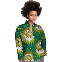 African Personal Tailor Women Printting Dashiki Clothes Turndown Collar Ladies Long Sleeve Leisure Shirts Africa Clothing