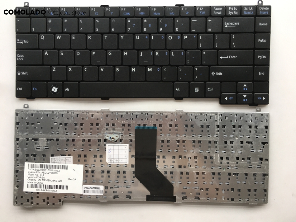For LG QLM P510 P530 A530 US Layout  Black Laptop Keyboard Replacement