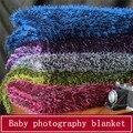 Alta Qualidade da Pele Do Falso Adereços Fotografia de Recém-nascidos Cobertores, Cobertor Do Bebê de Pelúcia Macia Cesta Stuffer, Faux Fur Fotografia Fundo