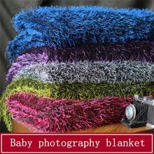 High Quality Faux Fur Newborn Photography Props Blankets,Soft Plush Baby Blanket Basket Stuffer,Faux Fur Fotografia Background