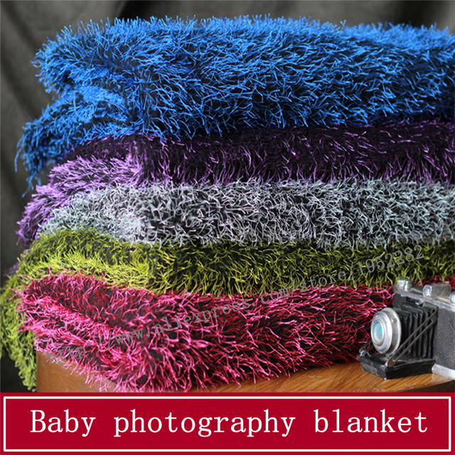 High Quality Faux Fur Newborn Photography Props Blankets,Soft Plush Baby Blanket Basket Stuffer,Faux Fur Fotografia Background