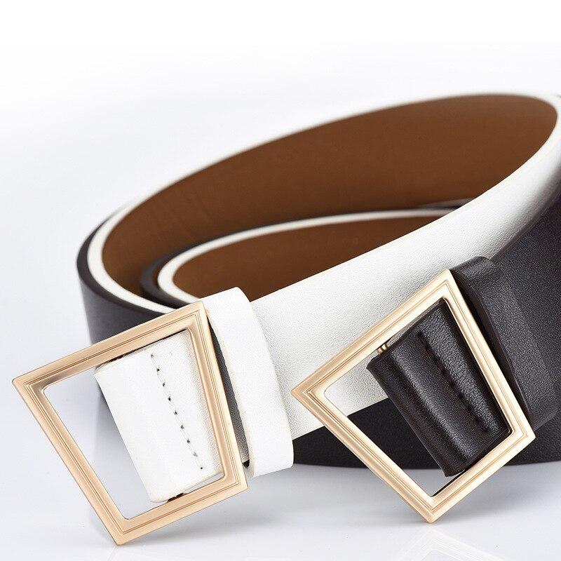 Fashion Woman 2019 Leather Belts For Women Cowskin Strap Jeans Or Dress Women's Belt Fashion Leisure Waist Belts Women Solid