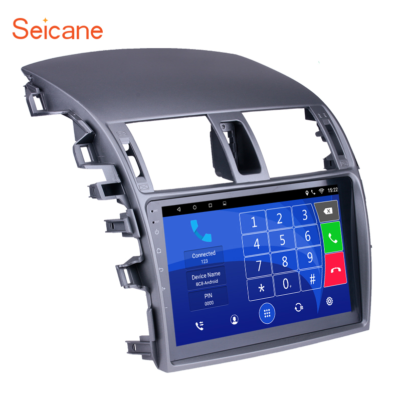 Seicane אנדרואיד 6.0 9 inch 2Din רכב רדיו WIFI Bluetooth Quad Core מולטימדיה נגן עבור 2007 2008 2009 2010 טויוטה ישן קורולה