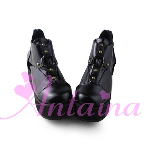 Princess sweet lolita shose Lolilloliyoyo antaina shoes custom lolita cos punk platform zipper 1395 High Platform shoes