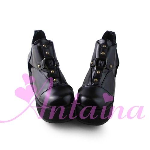 Princess sweet lolita shose Lolilloliyoyo antaina shoes custom lolita cos punk platform zipper 1395 High Platform shoes