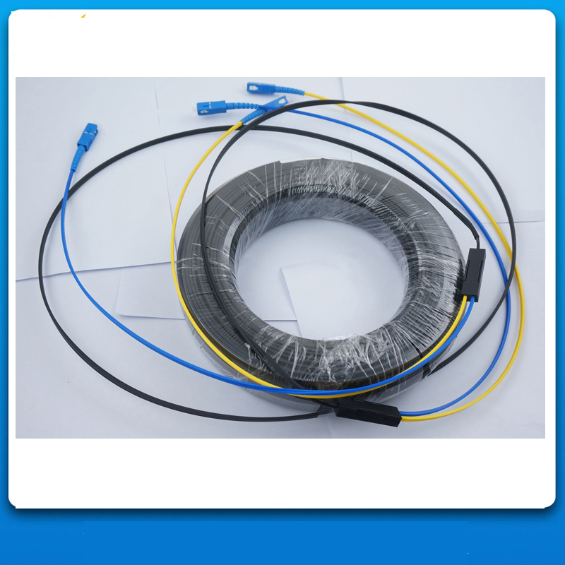 50M Outdoor SC/UPC to SC/UPC 2Cores Single Mode Duplex G657A2 LSZH Jacket FTTH GJYXCH Fiber Optic Drop Patch Cord