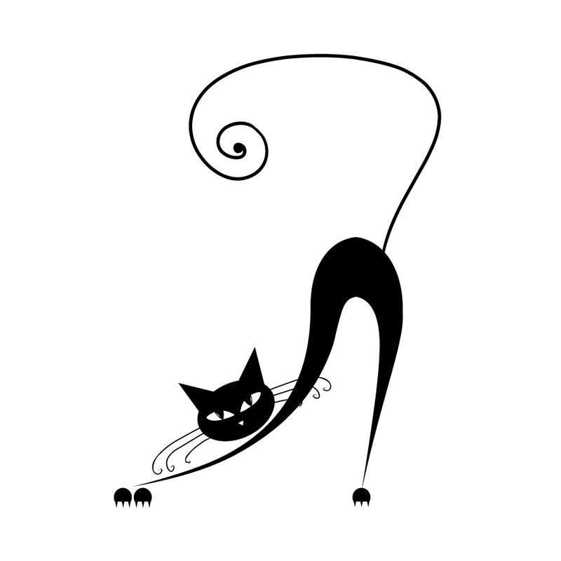 8.9*12,2 см изгиб зевает Сиамская кошка корпусных стикер окна автомобиля украшения наклейки аксессуары С4-0641