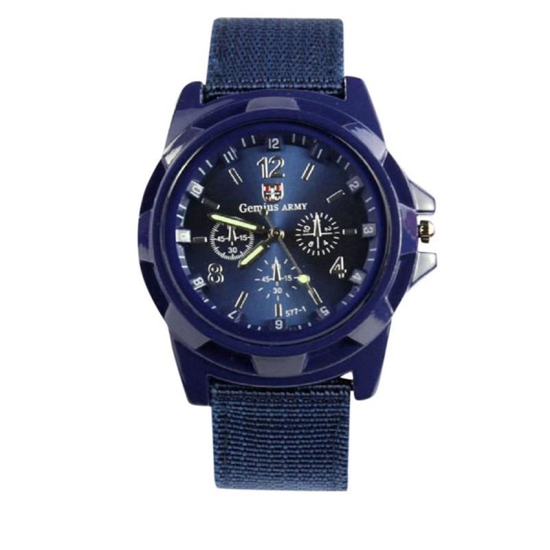 Men Watches Top Brand Luxury Quartz Army Racing Force Military Sport Watch Men Fashion Casual Fabric Clock Relogio Masculino #D