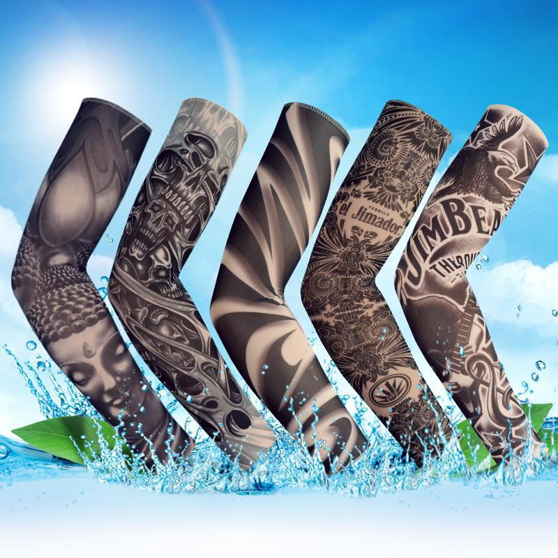 New Fashion Tattoo Sleeves Arm Warmer Unisex UV Protection Outdoor Temporary Fake Tattoo Arm Sleeve Warmer Sleeve Mangas