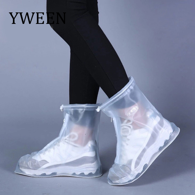 YWEEN Reusable Waterproof Shoe Covers For Motorcycle Cycling Bike Boot Rainwear For Shoes For Walking In Creek Rainy And Snowing