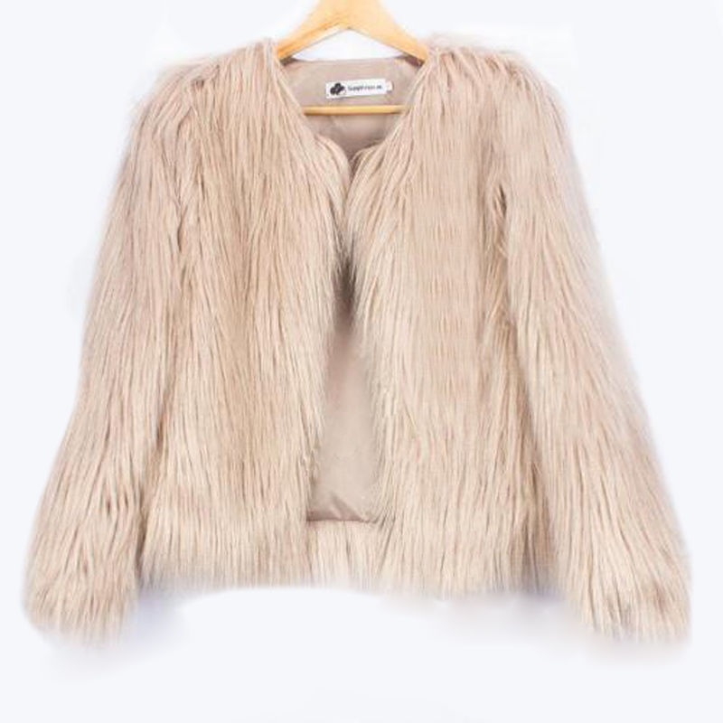 2019 Autumn Winter Plush   Trench   Coat Women Luxury Warm Ladies Faux Fur Cardigan Coats Tops Solid Loose Outwear