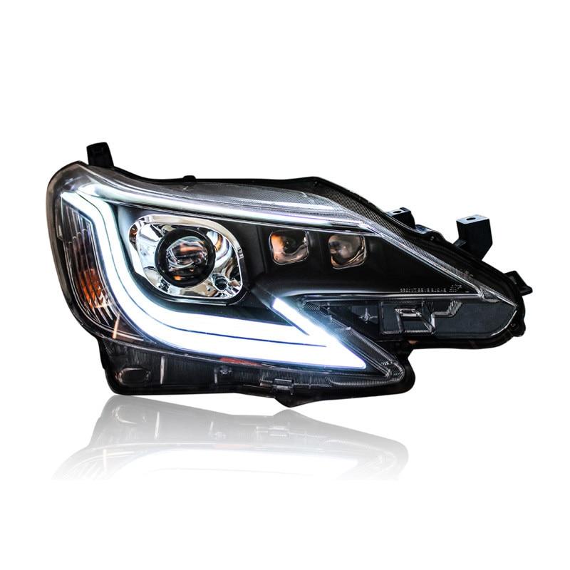 Ownsun 2шт LED орлиный глаз ДХО бар спрятанный би-ксенон проектор Лен оригинальные запасные фары для Тойота reiz 2014-2015