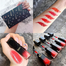 5PCS/SET Liquid Lipstick  Women Makeup Waterproof Batom Tint Lip Gloss Red Velvet True Brown Matte Easy to wear